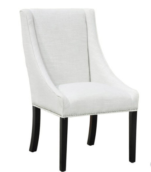 Neutral Linen Upholstered Dining Chair