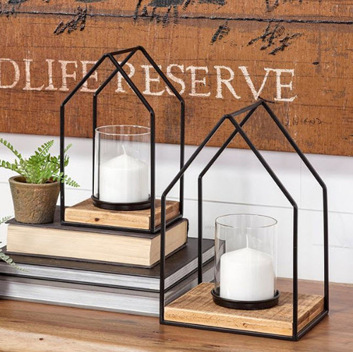 Rustic Modern Candle Holders (Set of 2)