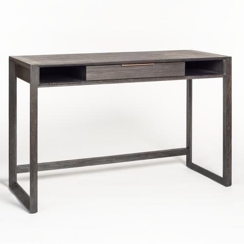 Modern Wood Desk Dark Grey Gray