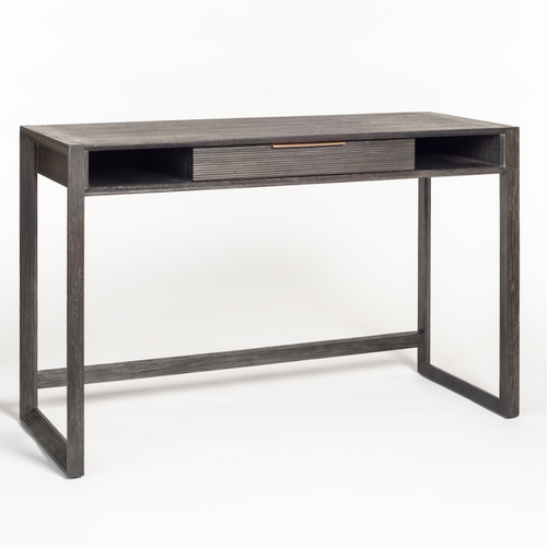 Modern Wood Desk Dark Grey Gray