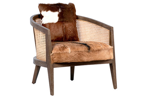 Cow Hide Occasional Chair Barrel Chair