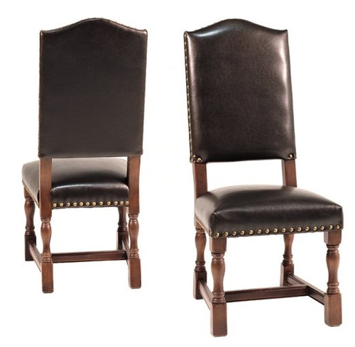 Modern Classic Leather Dining Side Chair