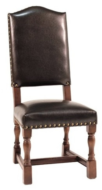 Transitional Leather Side Dining Chair
