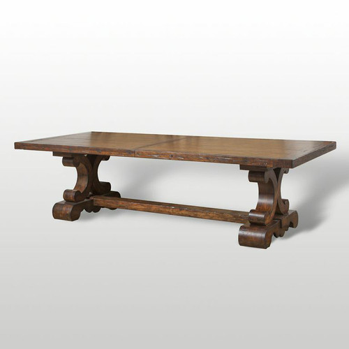 Old World Mediterranean Tuscan Style Trestle Dining Table