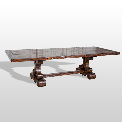 Old World Tuscan Spanish Extension Dining Table