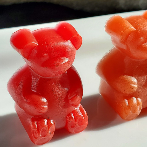 Glycerin Soap-Rainbow Gummy Bear Set