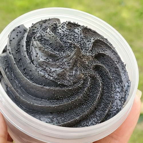 Foaming Facial Scrub-Charcoal & Mint