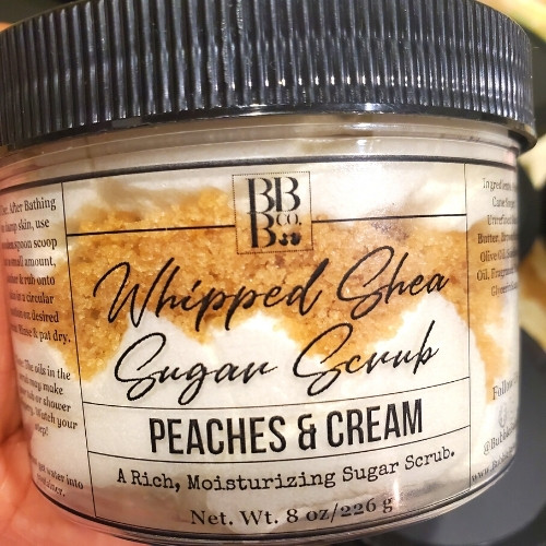 Peaches & Cream Whipped Shea Sugar Scrub