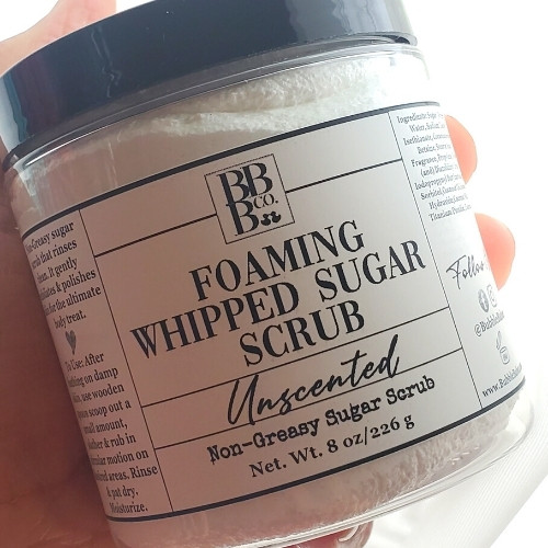 Unscented Foaming Whipped Sugar Scrub
