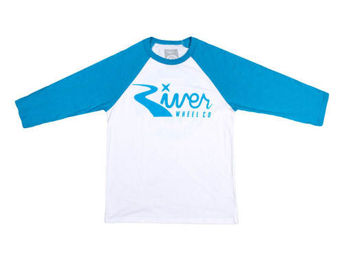 River Wheel Co. Classic Logo 3/4 Sleeve (Blue/White)