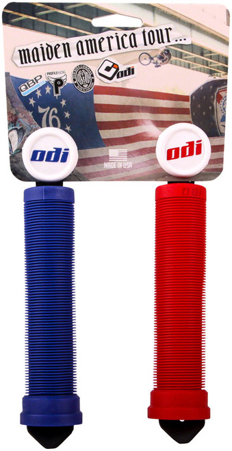 ODI Maiden America Grips - Soft Compound, Longneck, Red/White/Blue