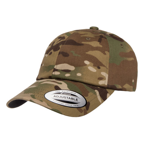 YP Classics Multicam Cotton Twill Dad Cap 6245Mc Multicam - One Dozen