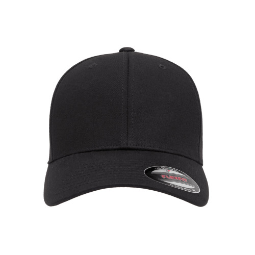 V-Flexfit Cotton Twill Cap 5001 Black - One Dozen