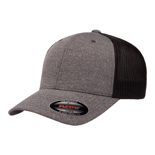 Flexfit Melange Trucker Cap 6311 Dark Heather Black - One Dozen