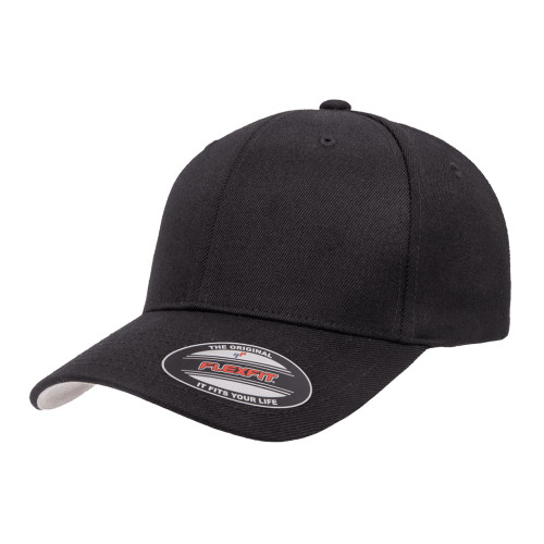Flexfit Premium Wool Blend Cap 6477 Black - One Dozen