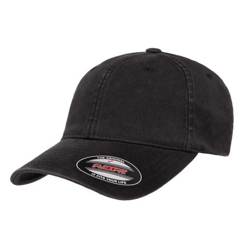 Flexfit Cotton Twill Dad Cap 6745 Black - One Dozen
