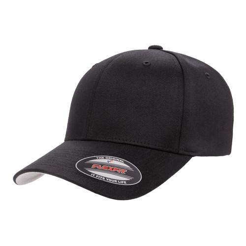 Flexfit Wooly Combed Cap 6277Xxl Black - Xxl 6277Xxl Black - One Dozen