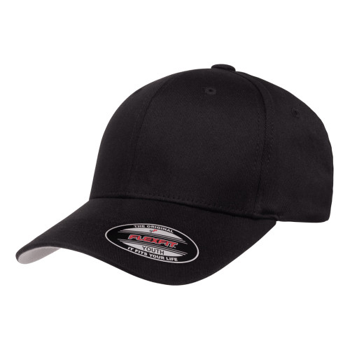 Flexfit Wooly Combed Cap 6277Y Black - Youth 6277Y Black - One Dozen