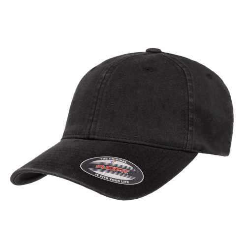 Flexfit Garment Washed Cotton Cap 6997Xxl Black - Xxl 6997Xxl Black - One Dozen