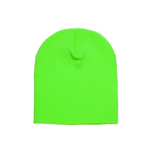 YP Classics Knit Beanie 1500Kc Safety Green - One Dozen