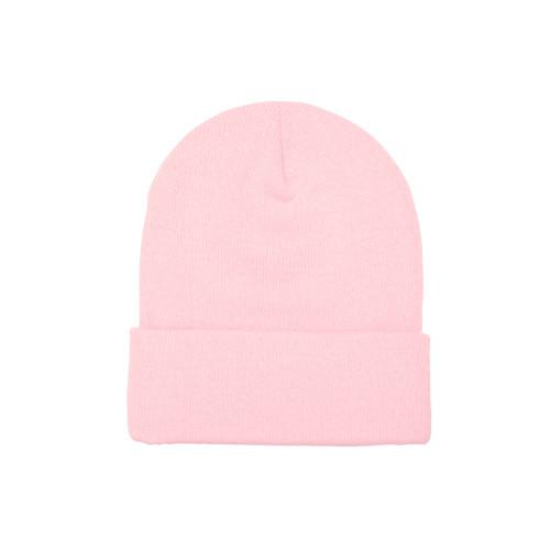 YP Classics Cuffed Knit Beanie 1501Kc Baby Pink - One Dozen