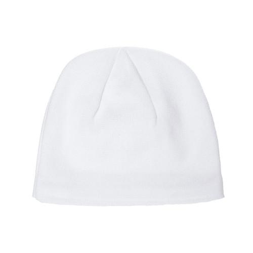 YP Classics Cool Max Beanie 1525Cm White - One Dozen