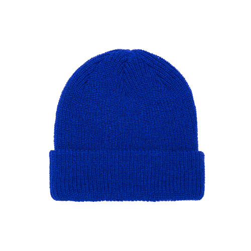 YP Classics Ribbed Cuffed Knit Beanie 1545K Royal - One Dozen
