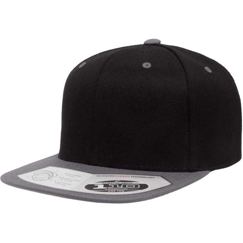 Flexfit® 110FT Black / Grey Premium Snapback Cap 2-Tone - One Dozen