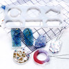 Silicone Large Pendant / Keytag Mold for Clear Resin