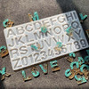 Alphabet & Number Letter Silicone Mold for Epoxy Resin