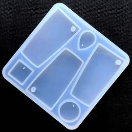 Irregular Geometry Pendant Silicone Mold (6 Cavity)