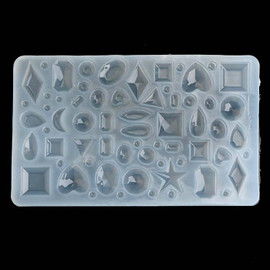 Rhinestone Mold in Various Shapes (64 Cavity) Gemstone