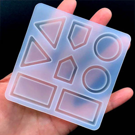 Earring/Pendant Geometry Bezel Tray Silicone Mold (8 Cavity)