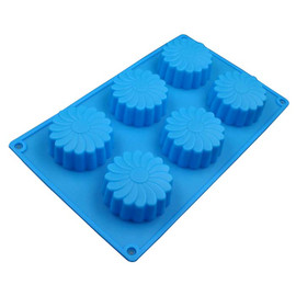 Flower Shaped Silicone Soap, Cupcake Mold