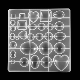 Assorted Dome Cabochon Making Silicone Mold (29 Cavity)