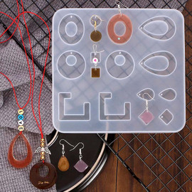 Bohemian Drop Dangle Resin Earring Silicone Molds for Resin