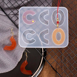 Round C-shaped Earrings Silicone Mold for Resin