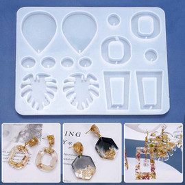Monstera Leaf Dangle Earring Silicone Mold