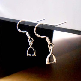 925 Sterling Silver French Hook with Pinch Bail 10Pcs