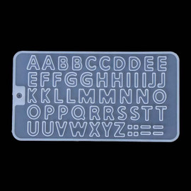 Silicone Alphabet / Letter Mold for Resin