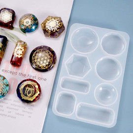 Cabochon Silicone Mold 8 Patterns for Resin