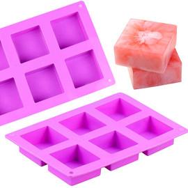 Square Silicone Soap Mold 6 Cavity