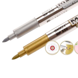 Metallic Permanent Markers Gold & Silver