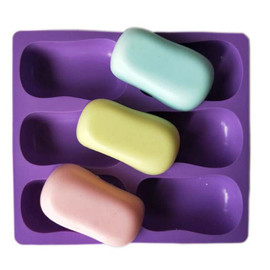 Oval Ellipse Shaped Soap Mold 6 Cavities