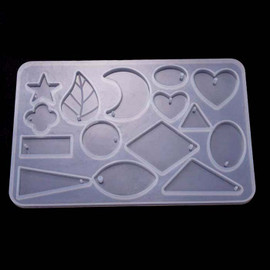 Leaf Moon Heart Silicone Pendant Earring Molds