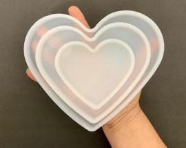 Heart Shaped Coaster Silicone Mold