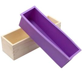 Silicone Soap Mold & Rectangular Wooden Box