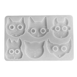 Animal Keychain Mold, Cat/Fox/Owl/Cow/Bunny