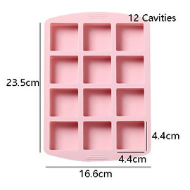 Square Shaped Silicone Soap Molds