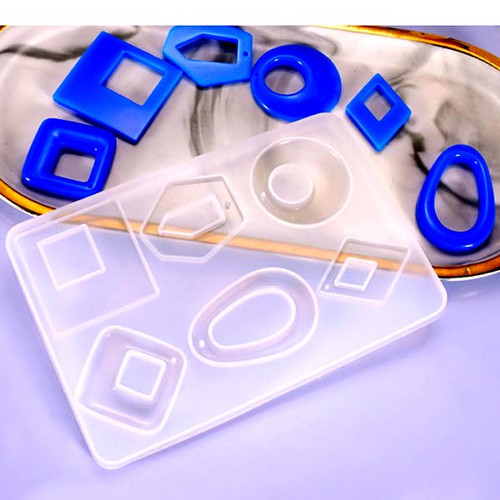 Silicone Pendant / Earring Mold for Clear Resin